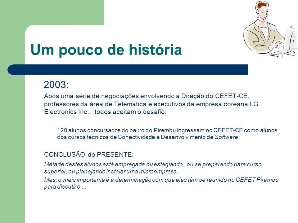 Um pouco de história 2003: