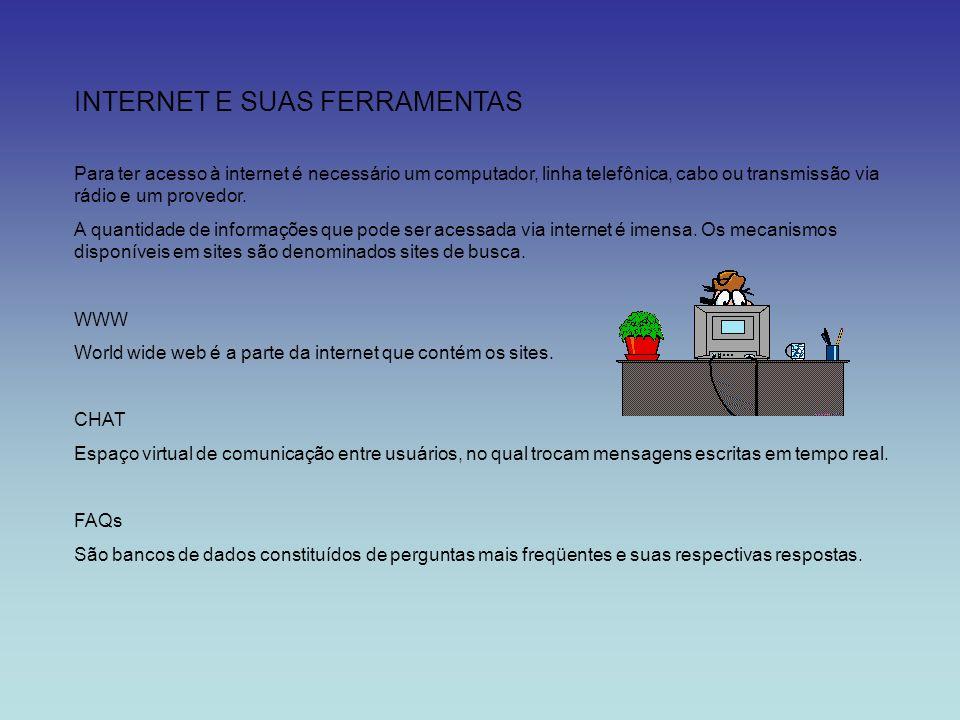 INTERNET E SUAS FERRAMENTAS