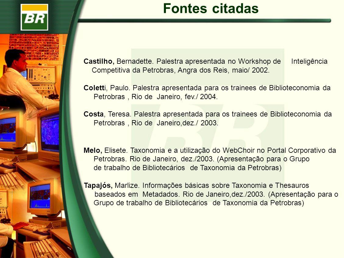 baseados em Metadados. Rio de Janeiro,dez./2003. (Apresentação para o