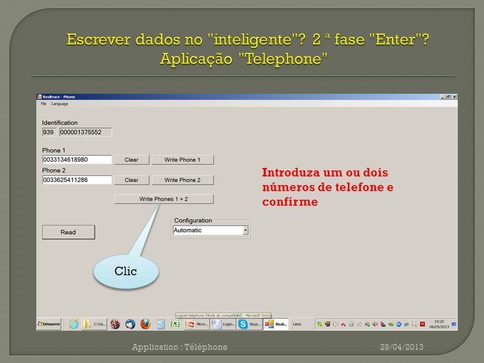 Application : Téléphone