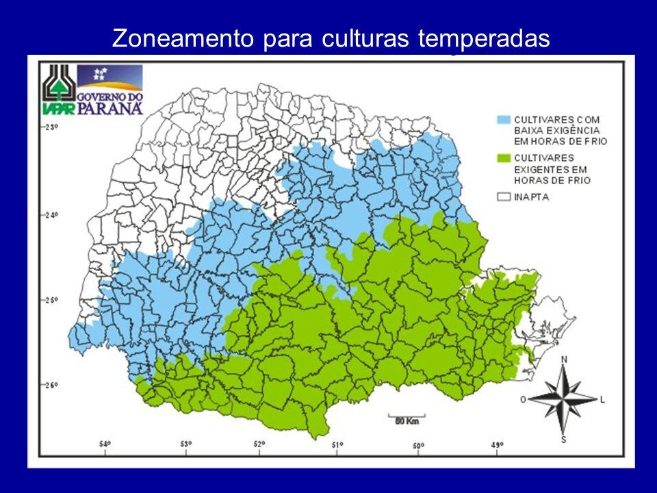 Zoneamento para culturas temperadas