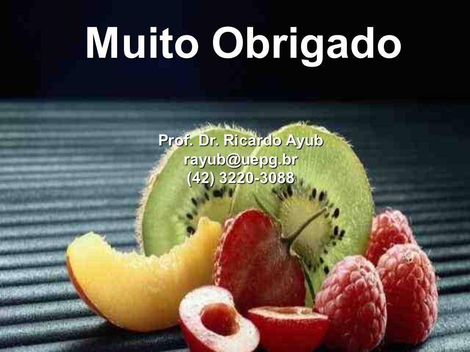 Muito Obrigado Prof. Dr. Ricardo Ayub rayub@uepg.br (42) 3220-3088