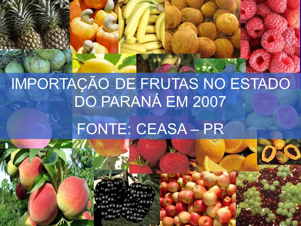 IMPORTAÇÃO DE FRUTAS NO ESTADO DO PARANÁ EM 2007
