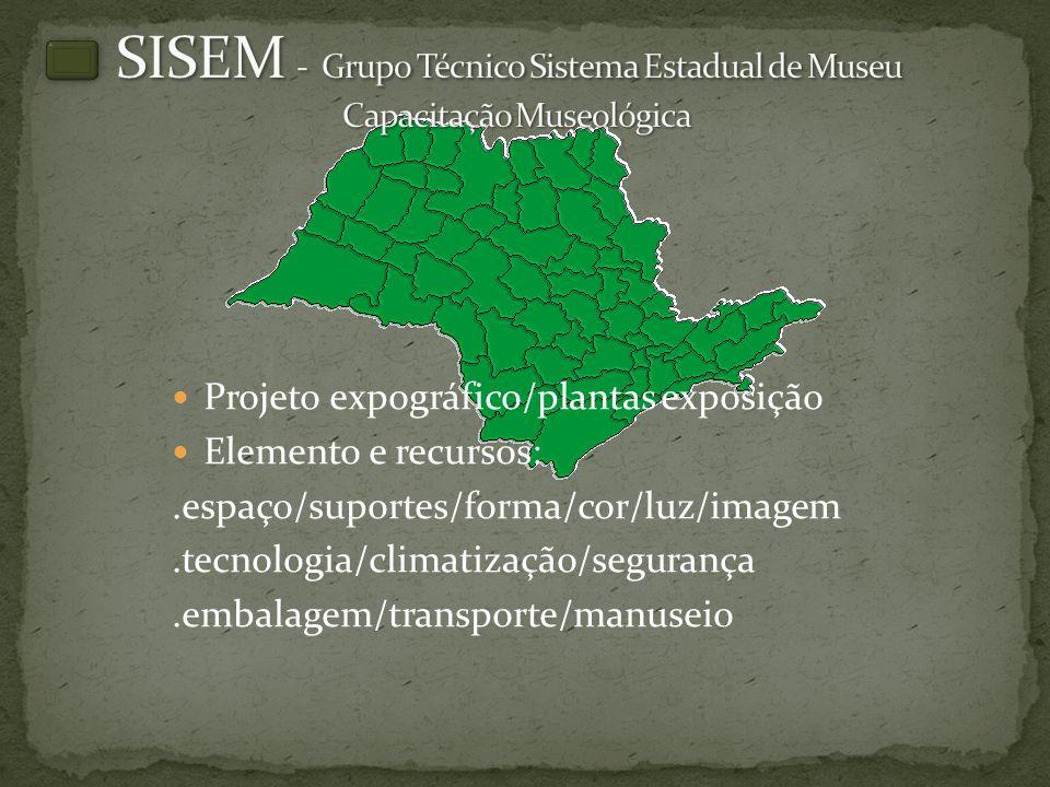 SISEM - Grupo Técnico Sistema Estadual de Museu Capacitação Museológica