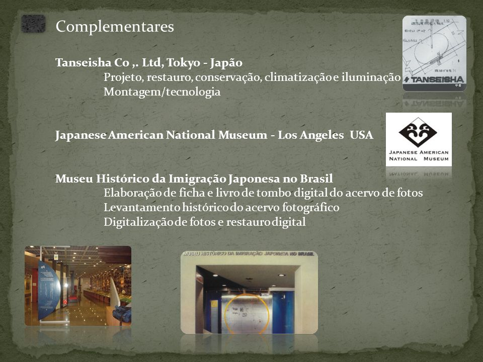 Complementares Tanseisha Co ,. Ltd, Tokyo - Japão