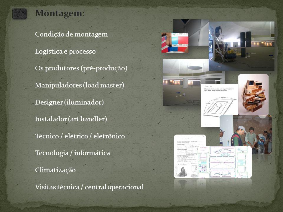 Montagem: Condição de montagem Logística e processo