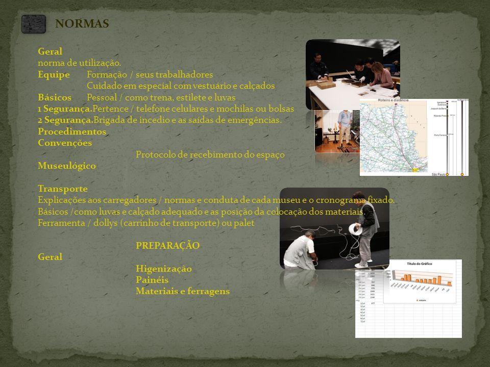 NORMAS Geral norma de utilização. Equipe Formação / seus trabalhadores