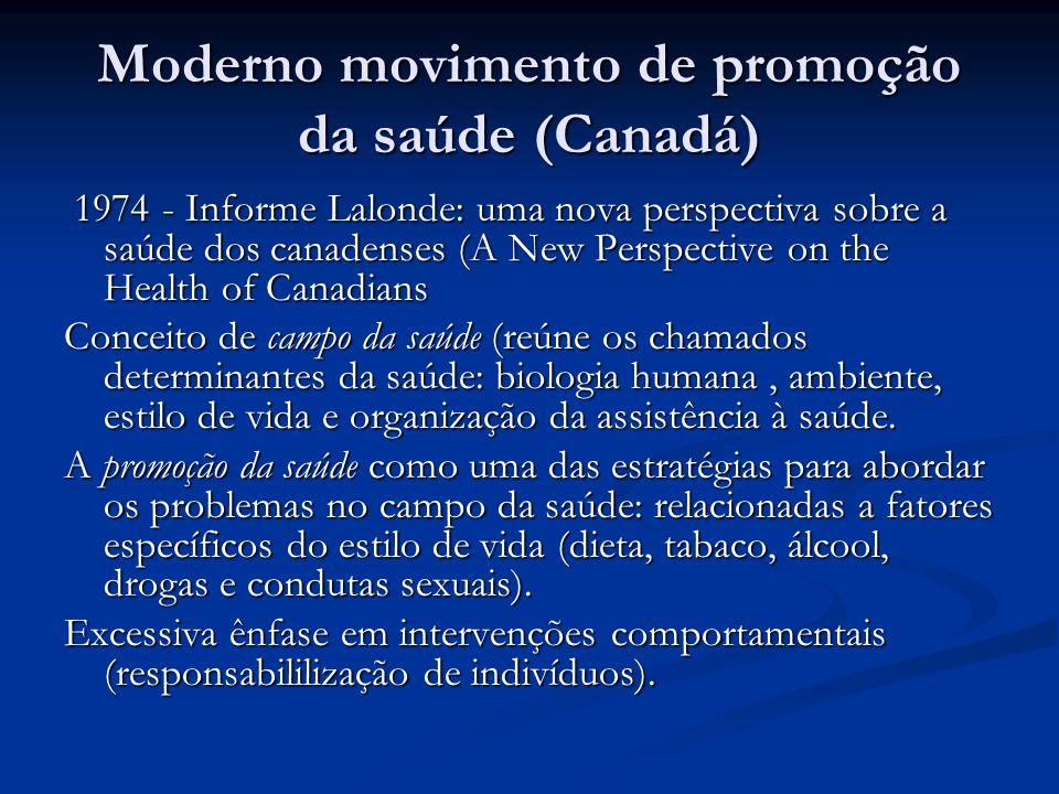 Moderno movimento de promoção da saúde (Canadá)