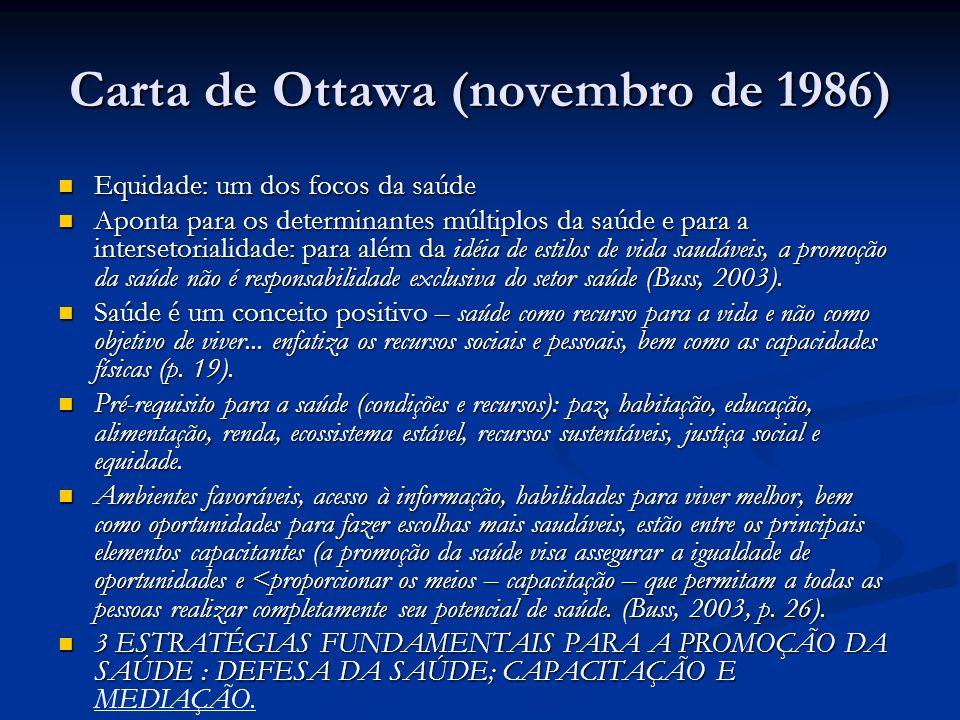 Carta de Ottawa (novembro de 1986)