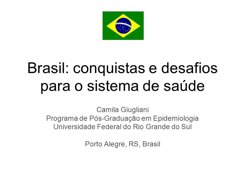 Brasil: conquistas e desafios para o sistema de saúde