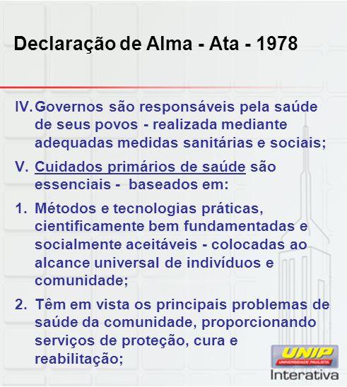 Declaração de Alma - Ata - 1978