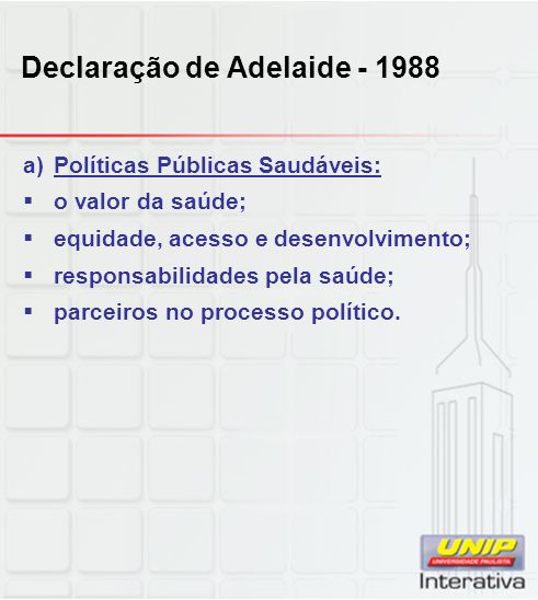 Declaração de Adelaide - 1988