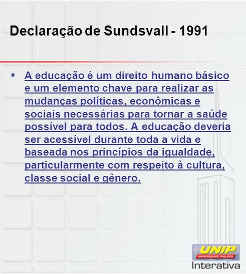 Declaração de Sundsvall - 1991
