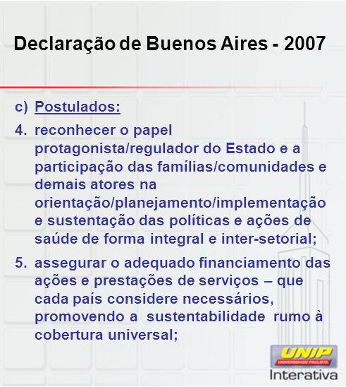 Declaração de Buenos Aires - 2007