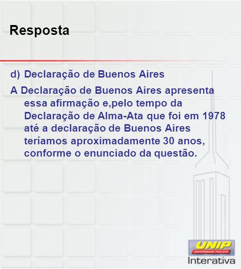Resposta Declaração de Buenos Aires