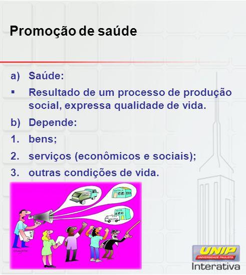 Promoção de saúde Saúde: