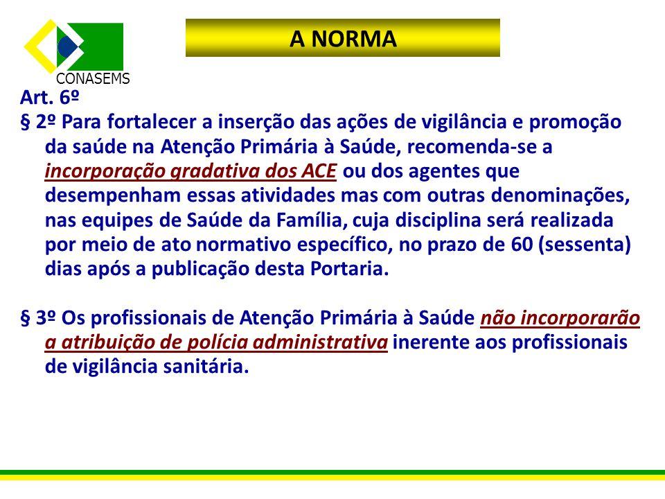 A NORMA Art. 6º.