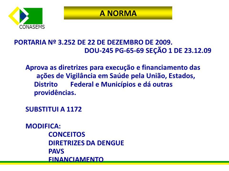 A NORMA PORTARIA Nº 3.252 DE 22 DE DEZEMBRO DE 2009.