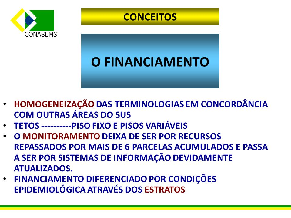 O FINANCIAMENTO CONCEITOS