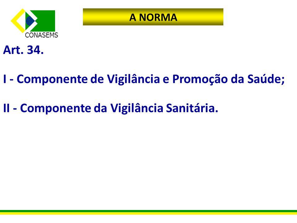 I - Componente de Vigilância e Promoção da Saúde;