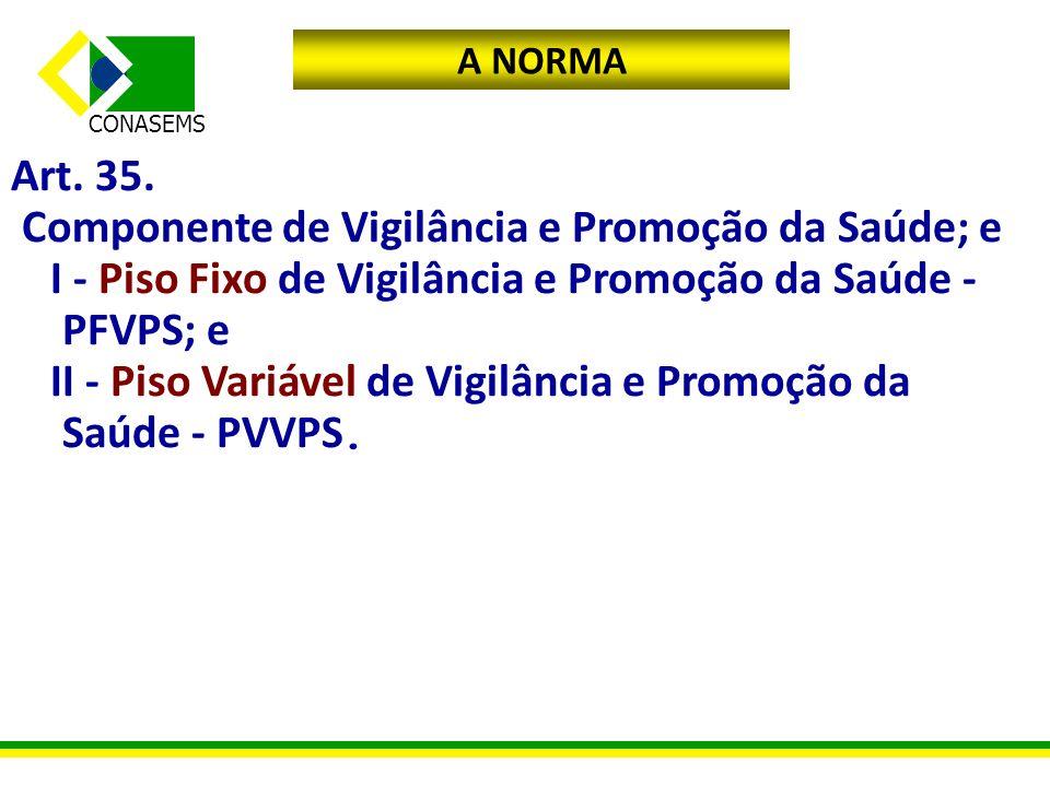 Componente de Vigilância e Promoção da Saúde; e