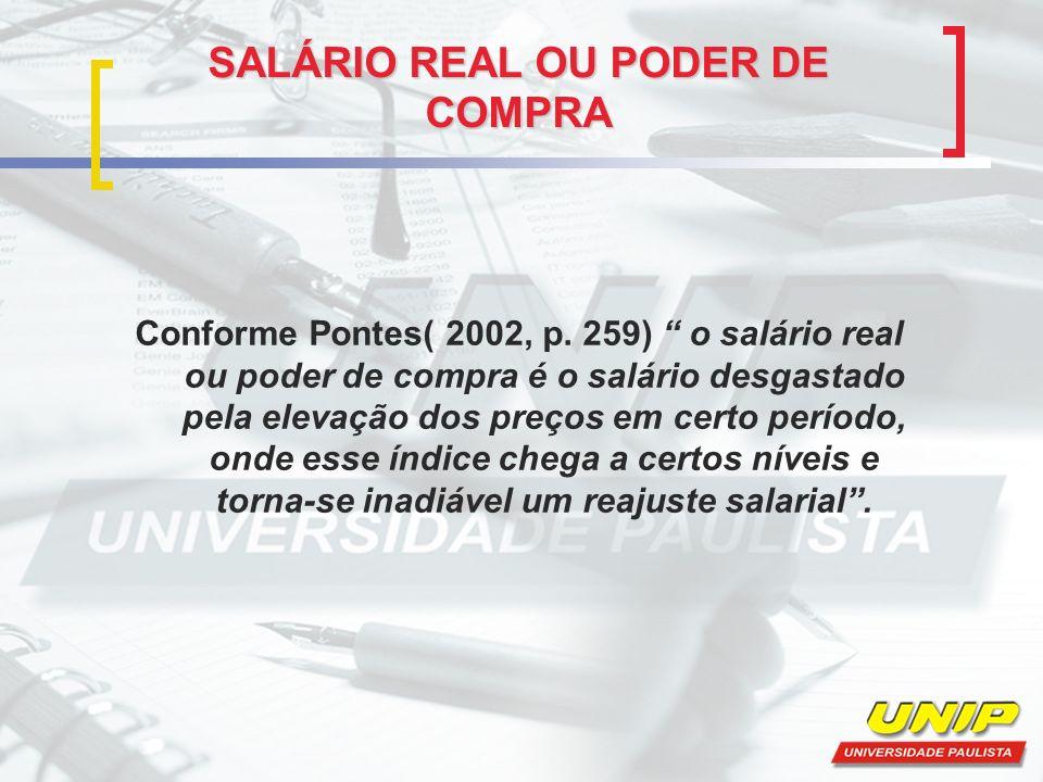 SALÁRIO REAL OU PODER DE COMPRA