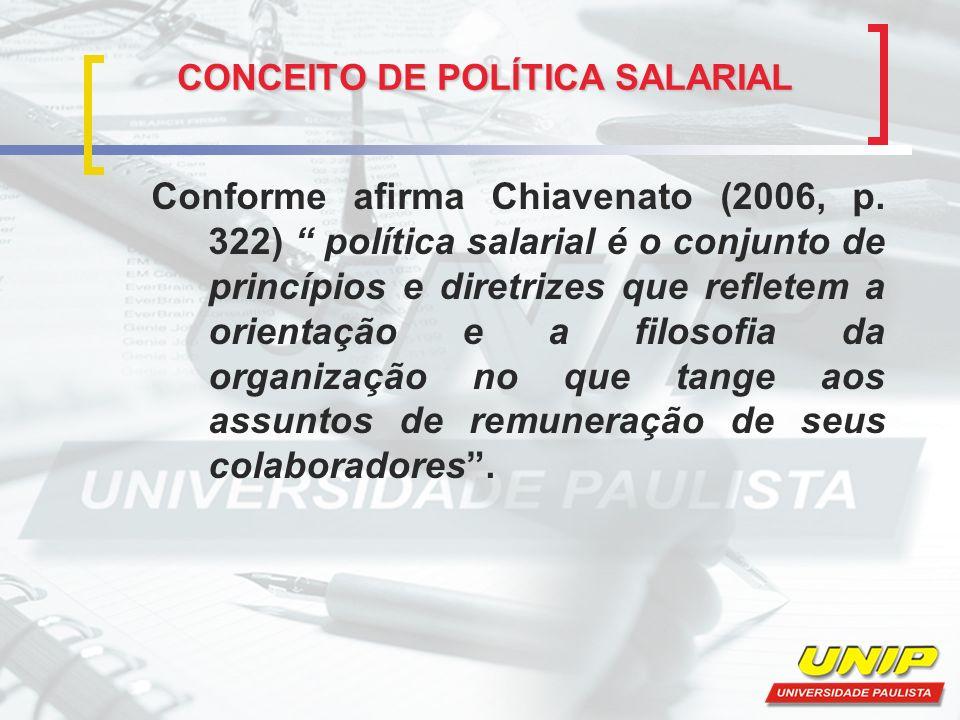 CONCEITO DE POLÍTICA SALARIAL