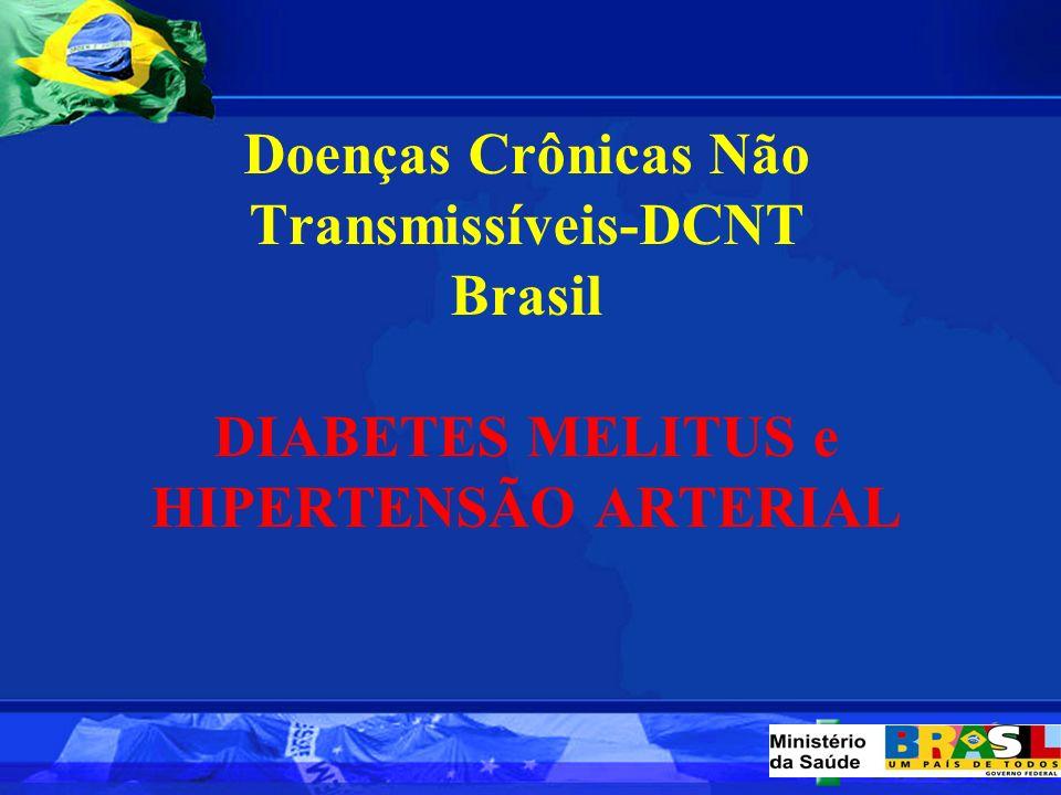 Doenças Crônicas Não Transmissíveis-DCNT Brasil DIABETES MELITUS e HIPERTENSÃO ARTERIAL