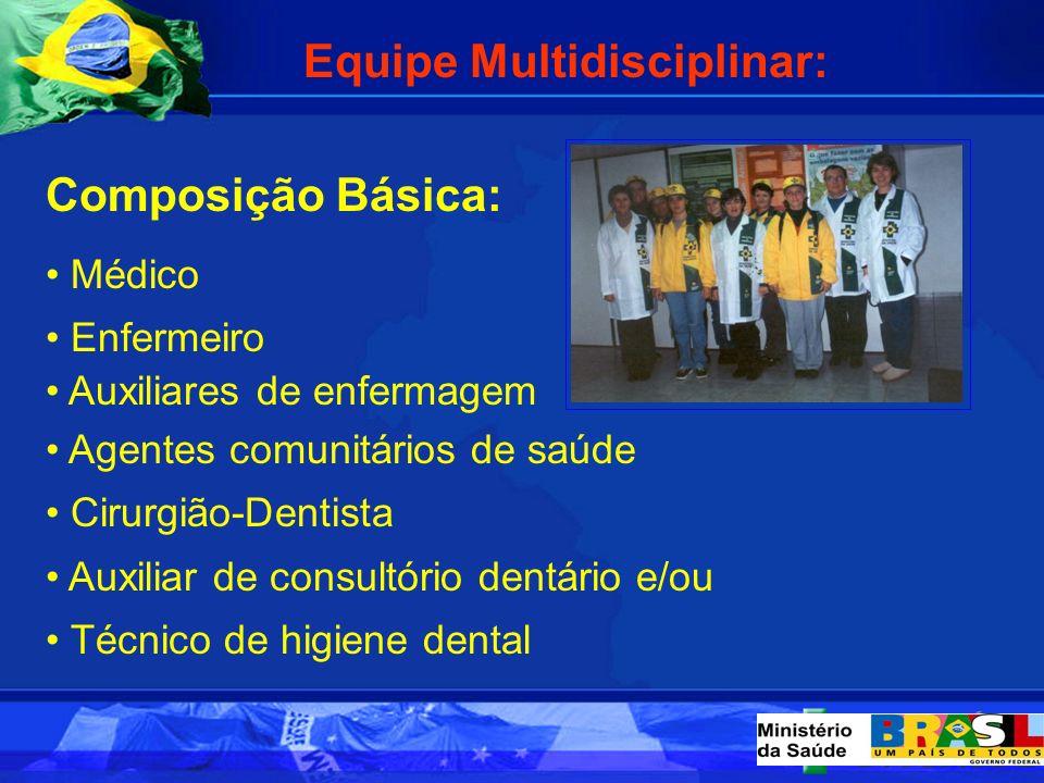 Equipe Multidisciplinar: Composição Básica: