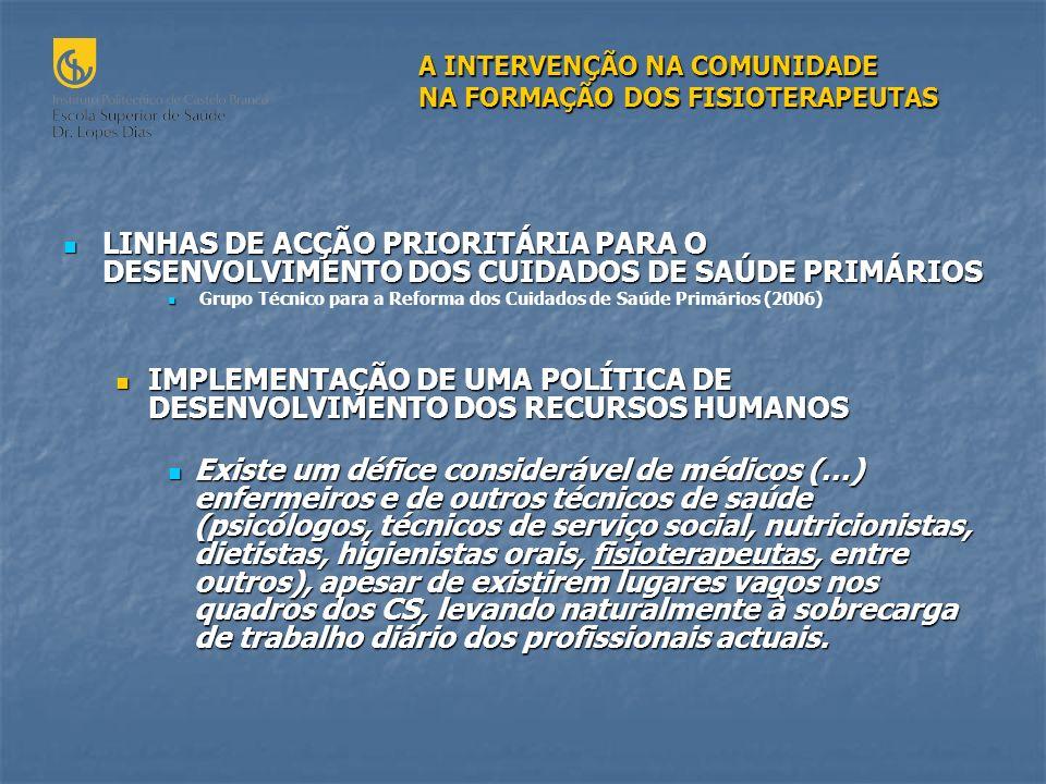IMPLEMENTAÇÃO DE UMA POLÍTICA DE DESENVOLVIMENTO DOS RECURSOS HUMANOS