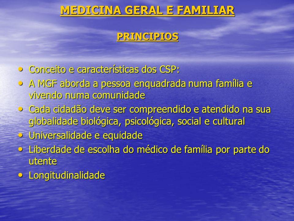 MEDICINA GERAL E FAMILIAR PRINCIPIOS