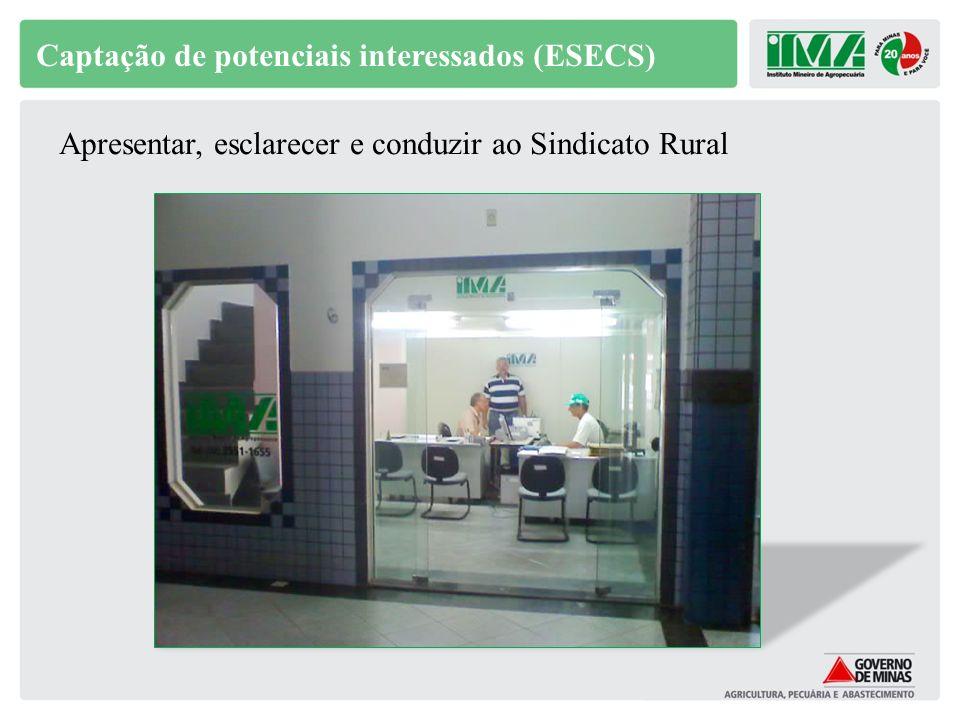 Captação de potenciais interessados (ESECS)