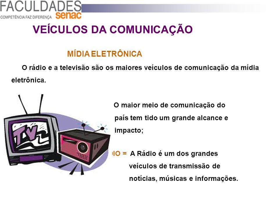 VEÍCULOS DA COMUNICAÇÃO