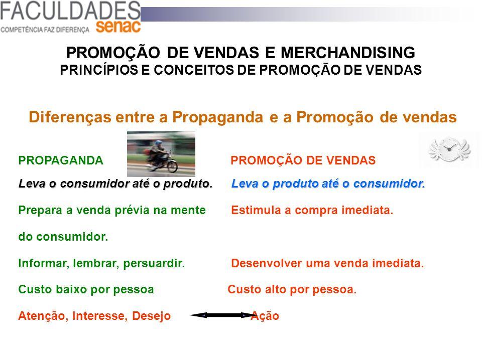 Diferenças entre a Propaganda e a Promoção de vendas