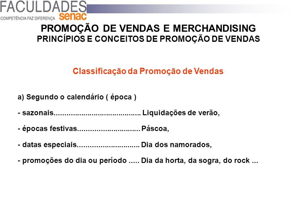 Classificação da Promoção de Vendas