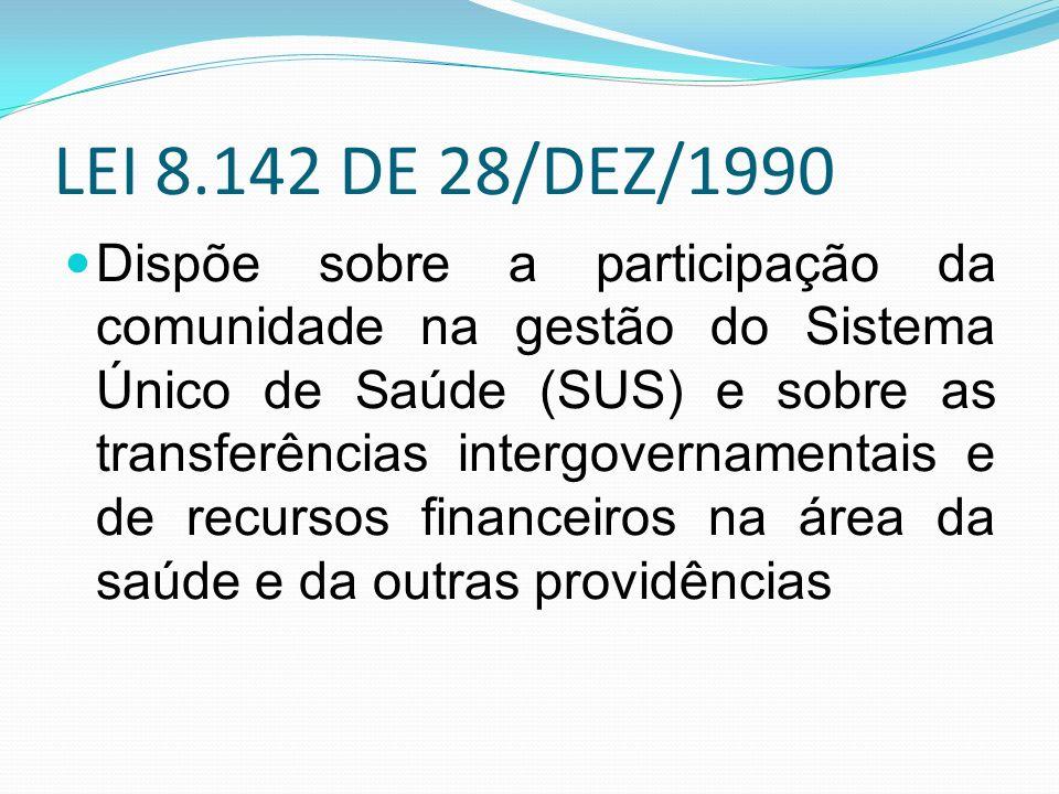 LEI 8.142 DE 28/DEZ/1990