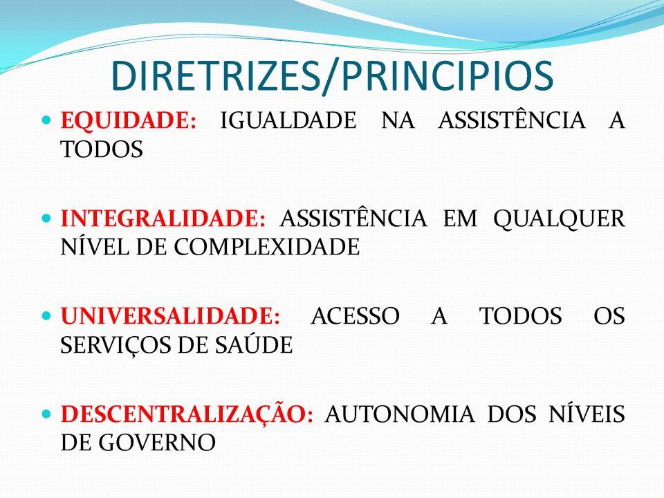 DIRETRIZES/PRINCIPIOS