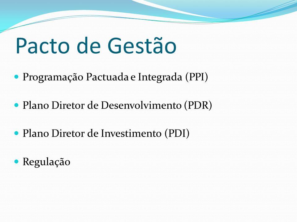 Pacto de Gestão Programação Pactuada e Integrada (PPI)