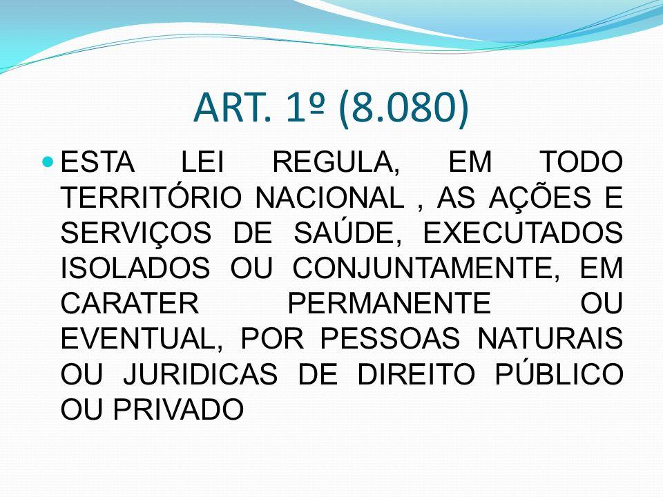 ART. 1º (8.080)