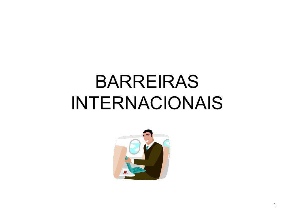 BARREIRAS INTERNACIONAIS