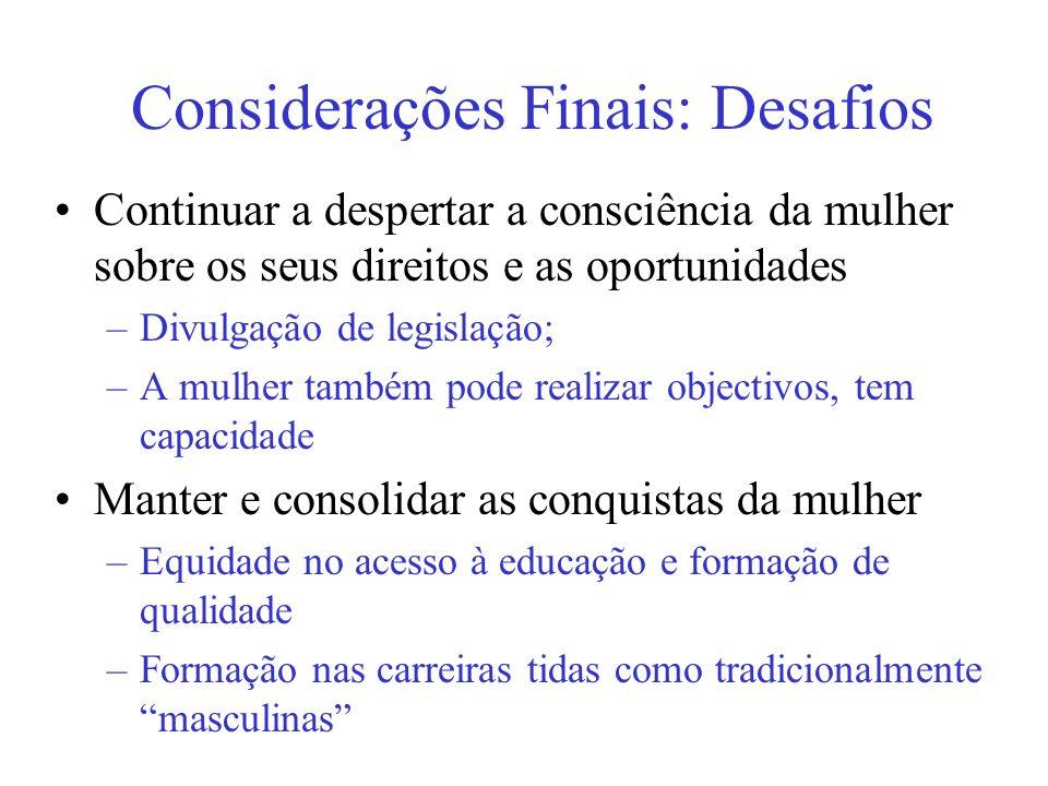 Considerações Finais: Desafios