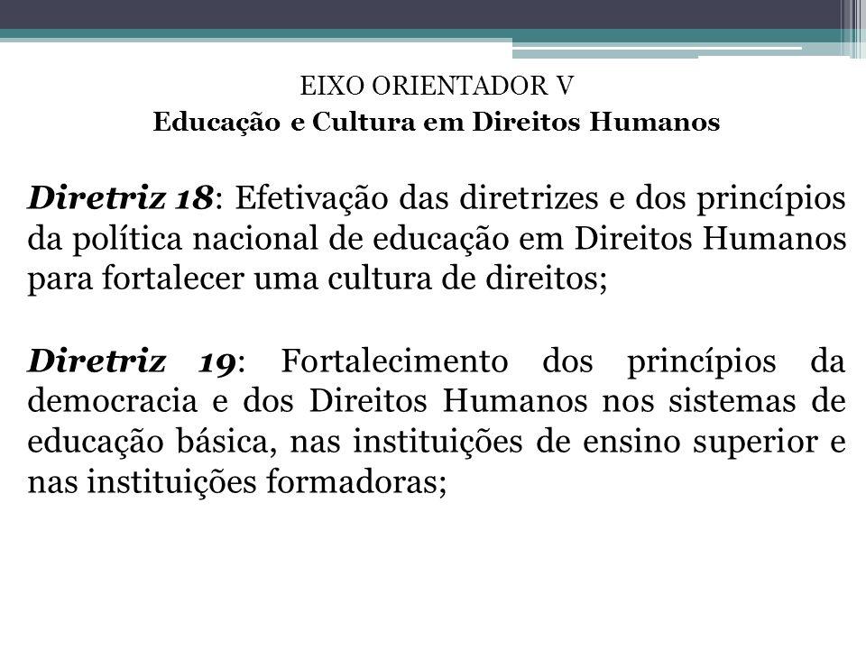 Educação e Cultura em Direitos Humanos