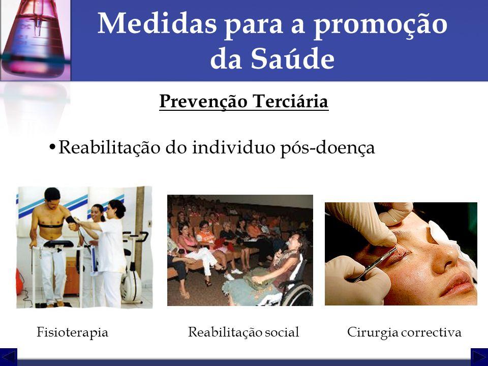 Medidas para a promoção da Saúde