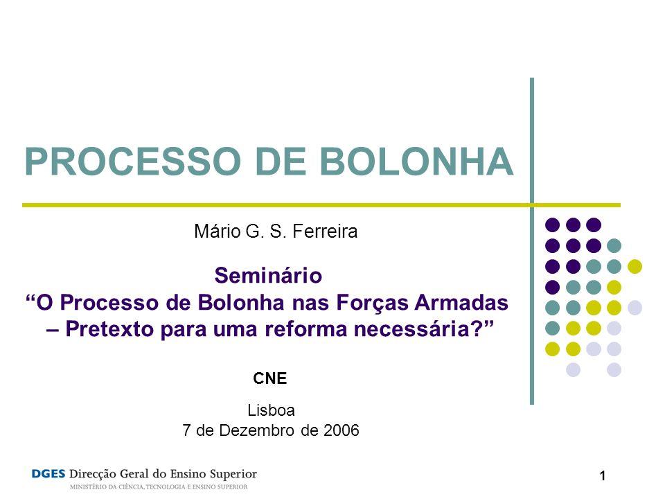 PROCESSO DE BOLONHA Seminário