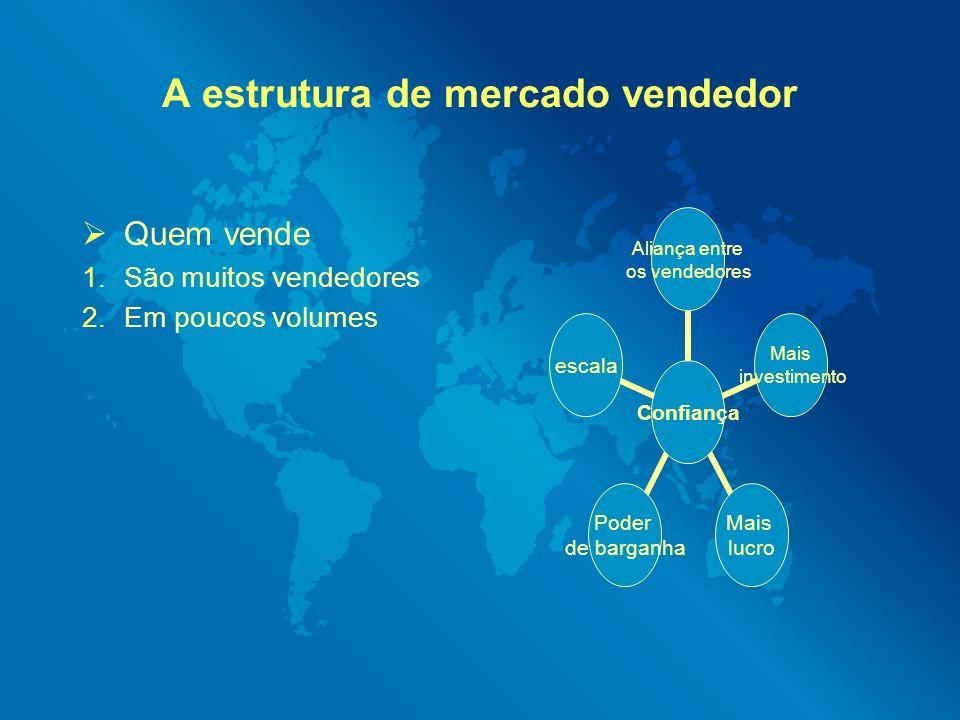 A estrutura de mercado vendedor