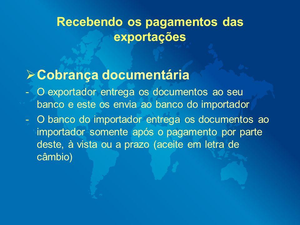 Recebendo os pagamentos das exportações