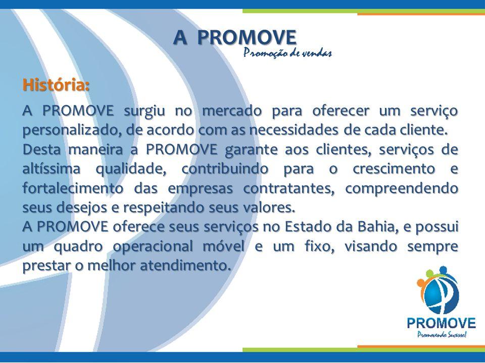 A PROMOVE Promoção de vendas. História: