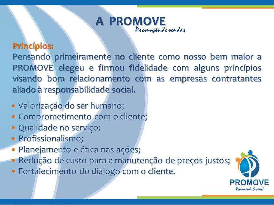 A PROMOVE Promoção de vendas. Princípios: