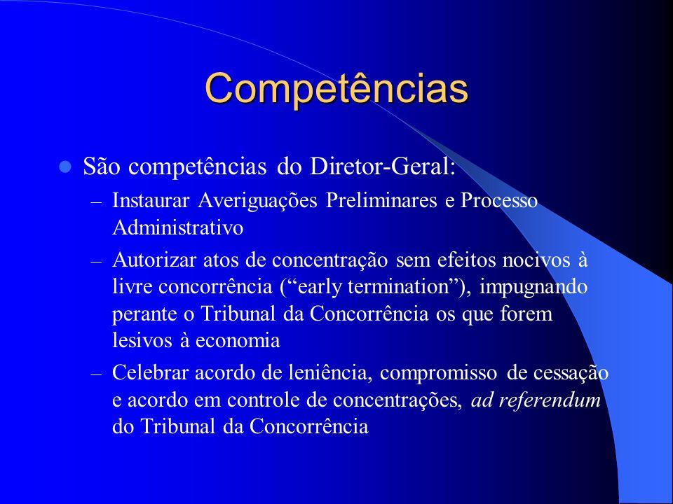 Competências São competências do Diretor-Geral:
