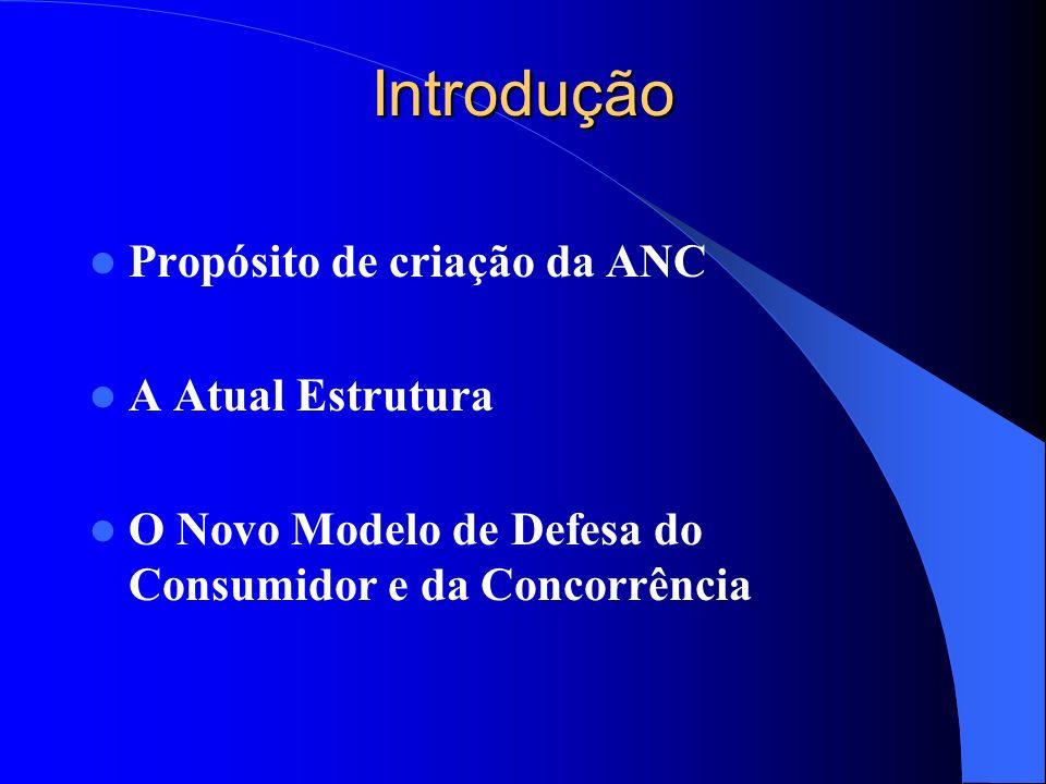 Introdução Propósito de criação da ANC A Atual Estrutura